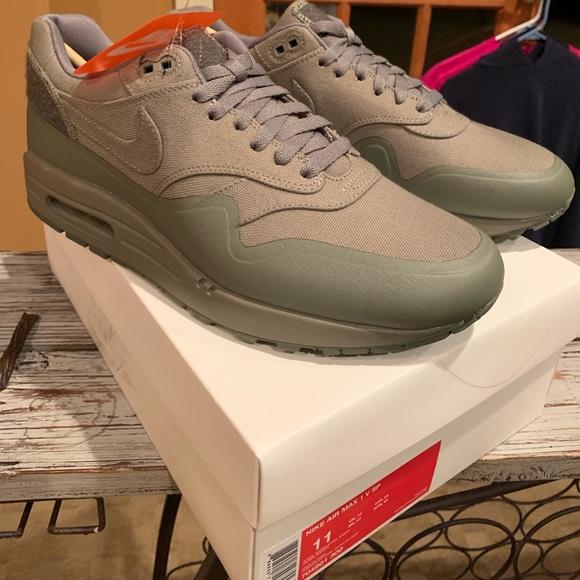 New Men's Nike Air Max 1 White Pure Platinum Gum Depop
